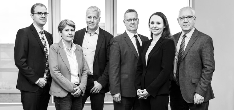 Daniel Tellkamp (Advisor Financial Solutions), Heide Stegemerten (Product Governance), Andreas Stahmeyer (Managing Director), Stefan Vonderheide (Director Investment Funds), Olga Valko (Administration and Services), Thomas Dellwig (Managing Director)